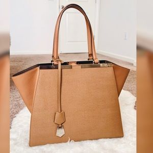 """Fendi Brown Calfskin leather """"3jours"""" tote"""